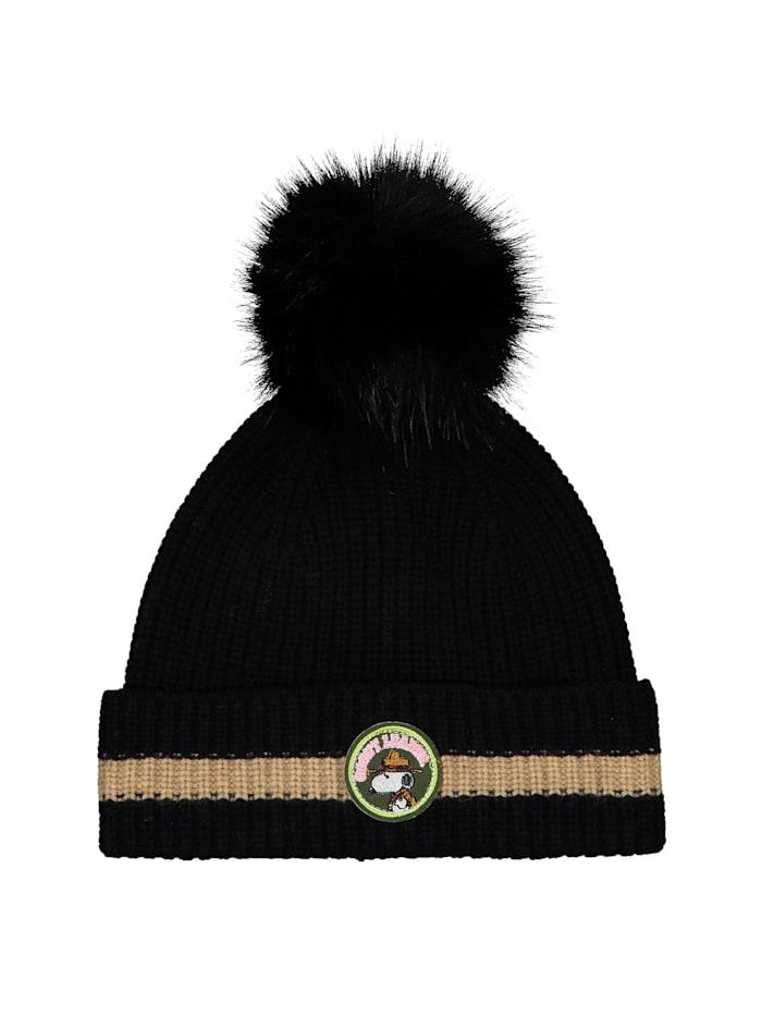 """Codello ,,PEANUTS"""" Mütze mit Wolle und Viskose, black"""