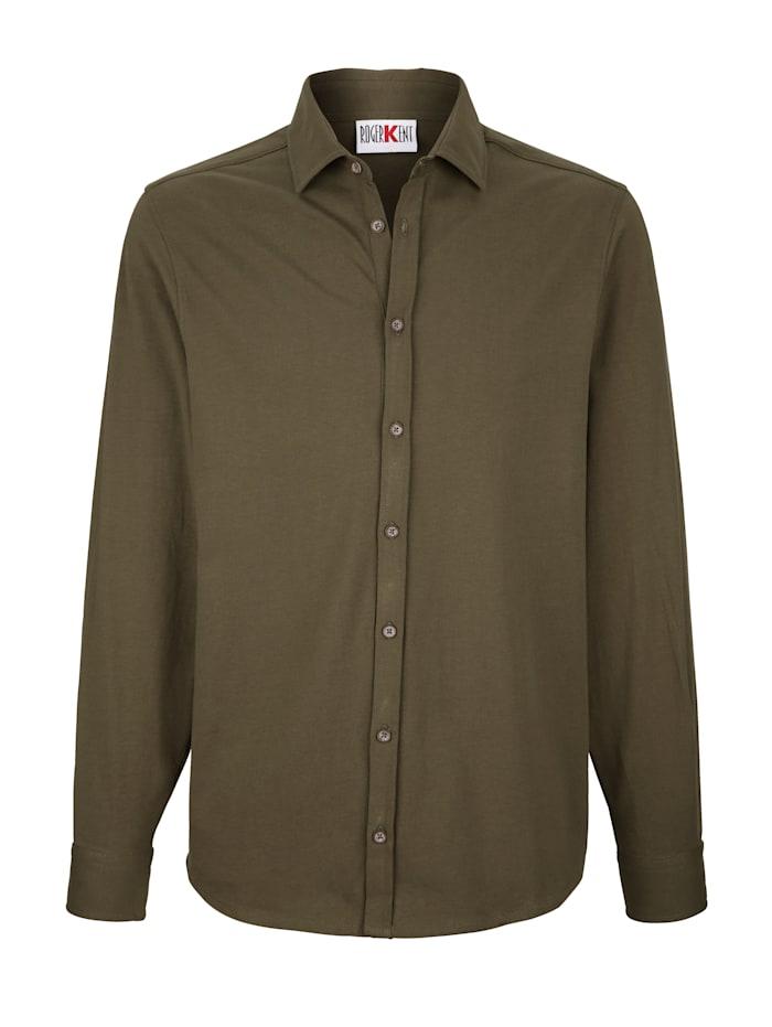 Roger Kent Overhemd met doorknoopsluiting, Olijf