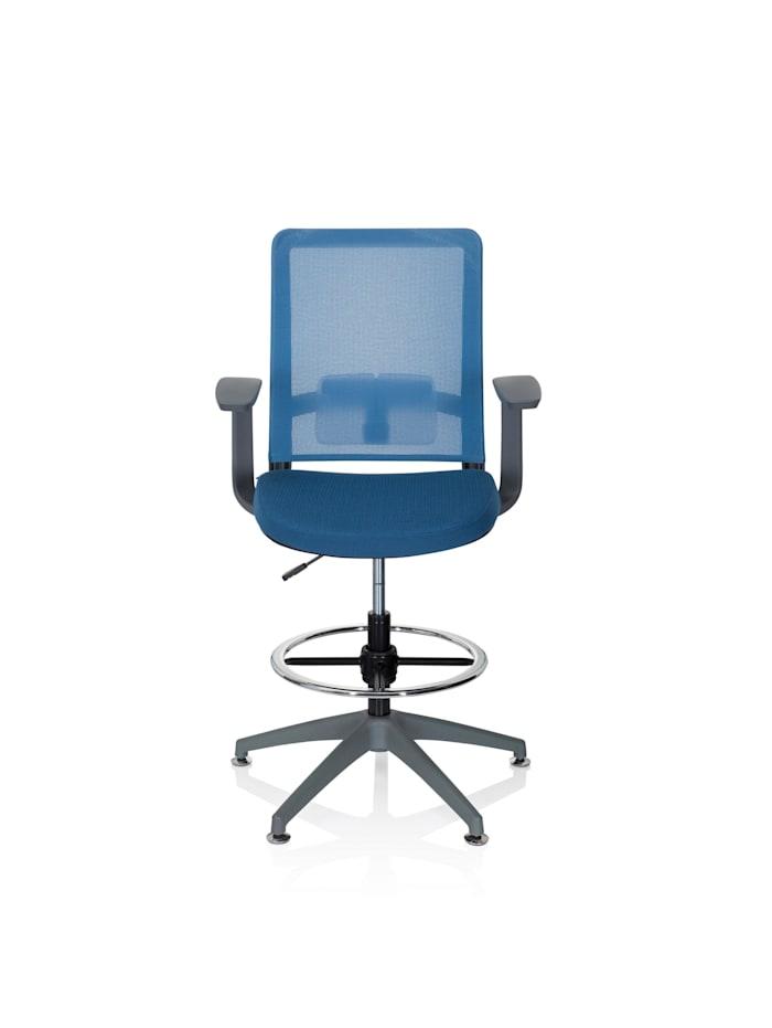 hjh OFFICE Arbeitsstuhl Arbeitshocker PURE WORK GREY, Blau