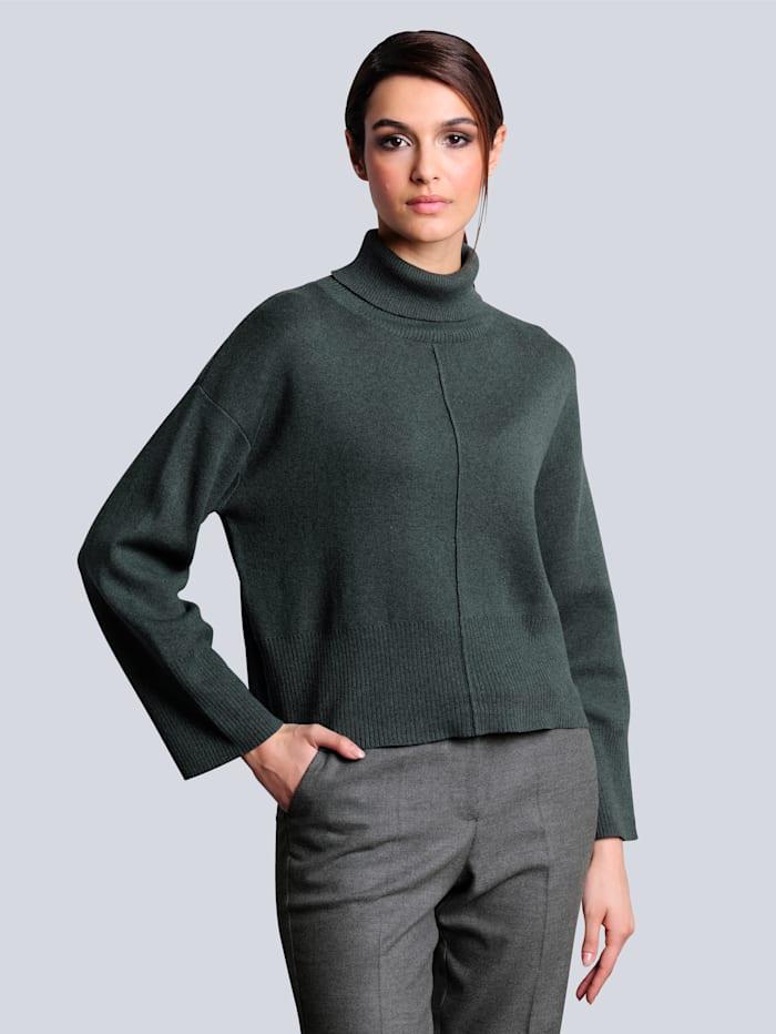 Alba Moda Pullover mit Kaschmiranteil, Grün