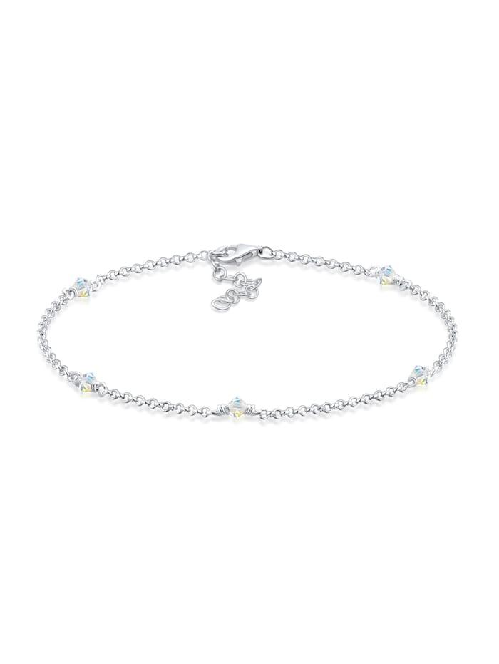 Elli Armband Kristalle 925 Sterling Silber, Weiß