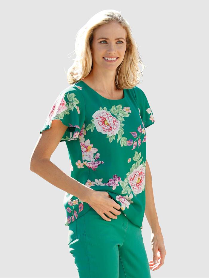 Dress In Blouse à motif floral, Vert