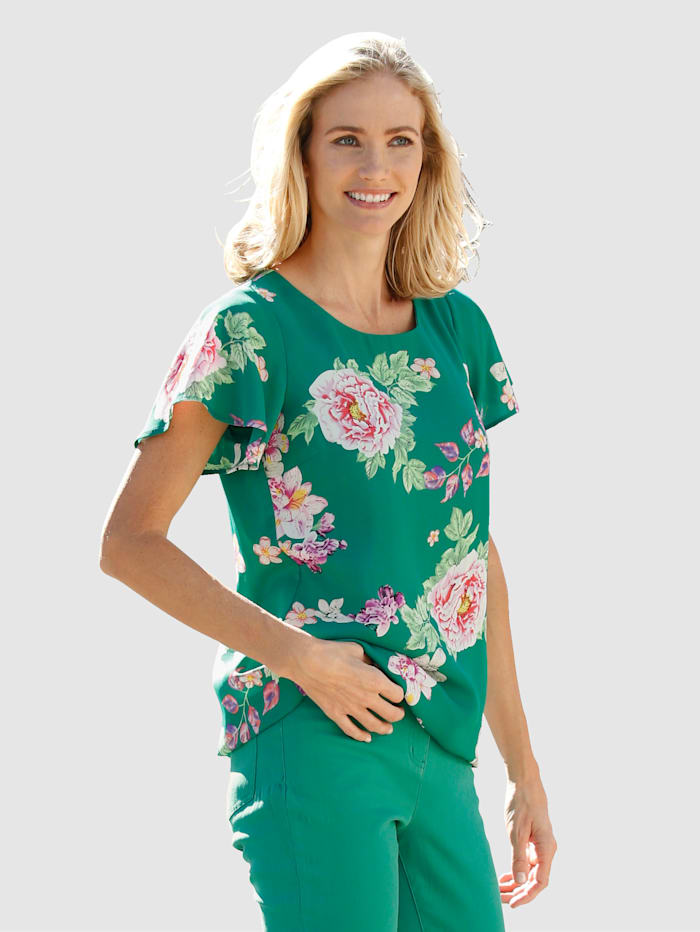 Dress In Blouse All-over floral print, Green