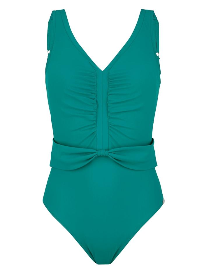 Sunflair Badeanzug mit Schleifendetail vorne, Smaragd
