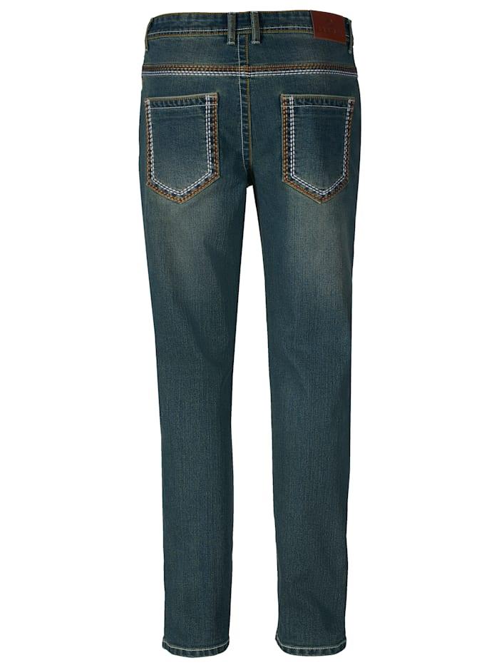 Jeans med snygg tvättning