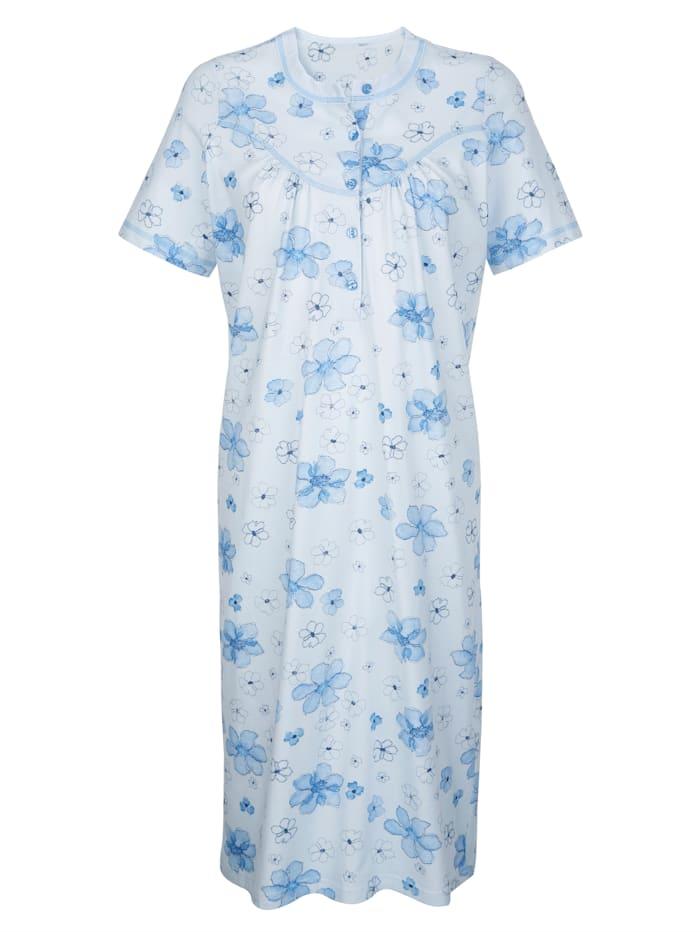 Noční košile s dekorativním kontrastním prošíváním