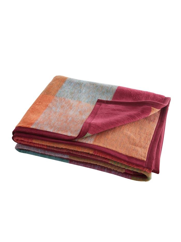 biederlack Plaid Warm Shades, Multicolor