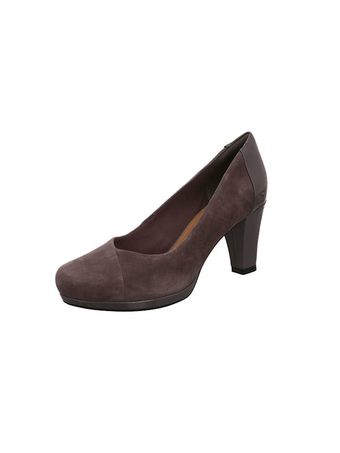 Clarks Pumps, grau