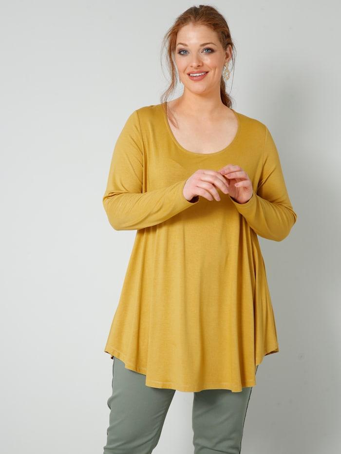 Sara Lindholm Shirt in A-Shape, Gelb