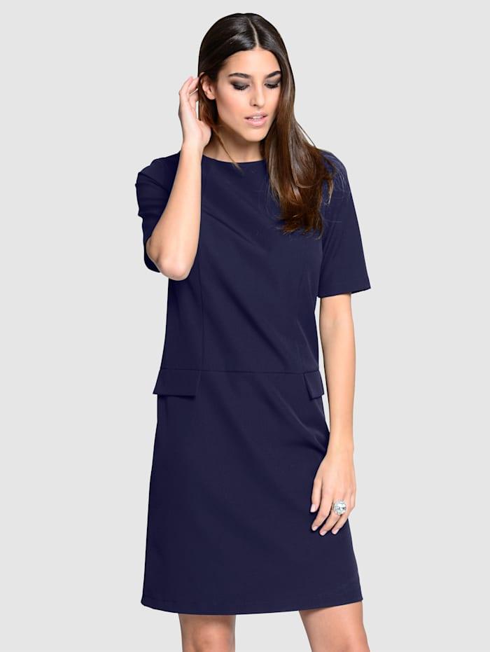 Alba Moda Kleid in leicht kastiger Form, Marineblau