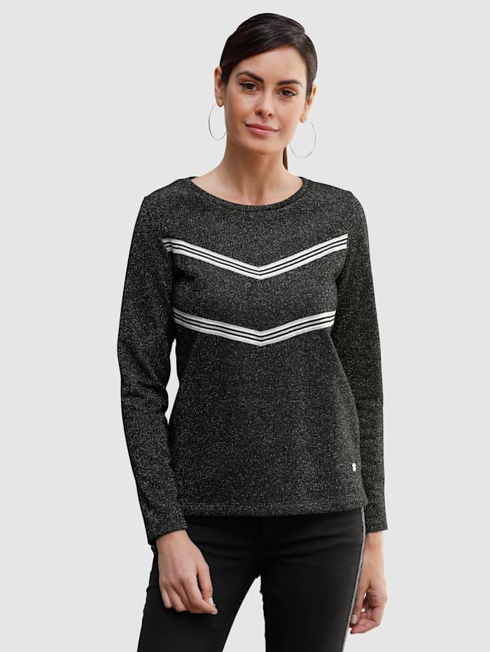 Laura Kent Sweatshirt mit metallisiertem Garn, Schwarz