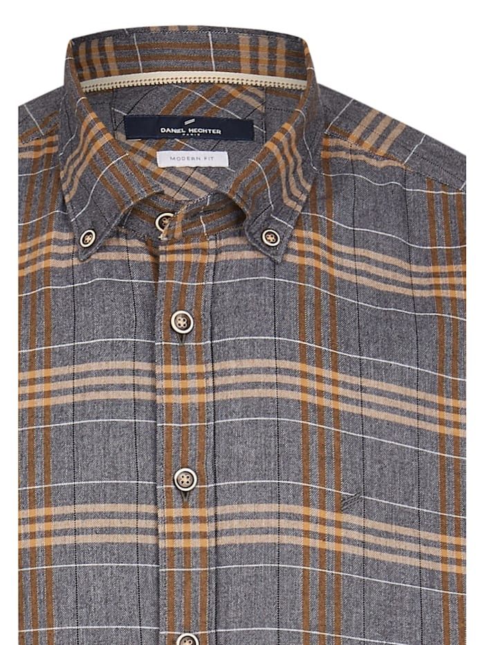 Baumwoll-Hemd im Indigo-Casual-Look
