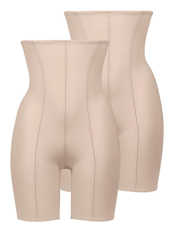 Naturana 2er Sparpack Miederhose mit Bein, Skin-Skin