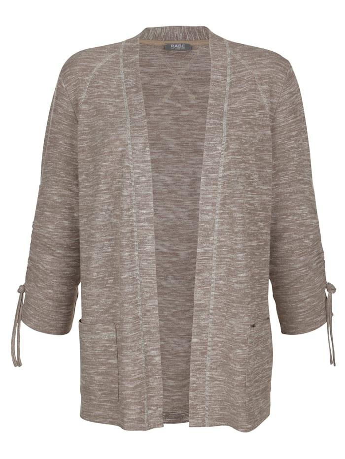 Shirtjacke in Melange-Qualität