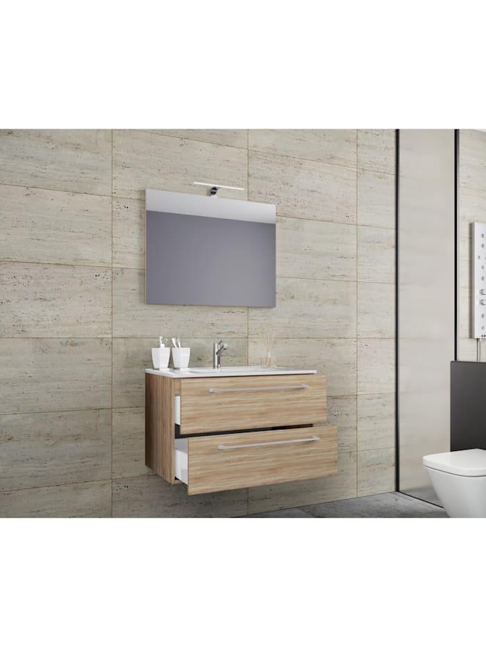 3.-tlg. Waschplatz Waschtisch Badinos Spiegel