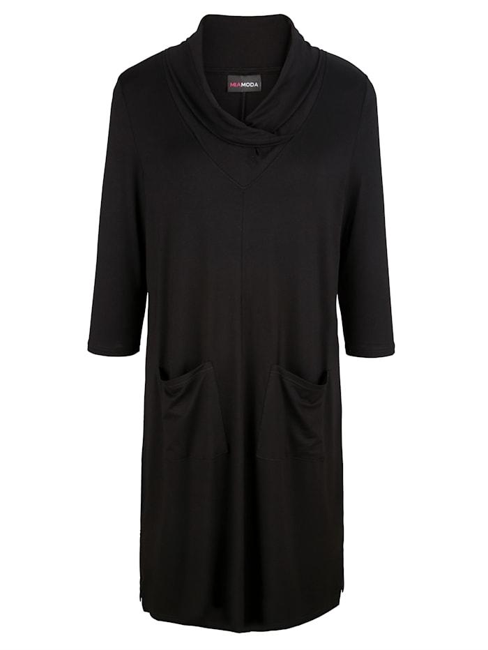 T-shirt long à jolie variante de col