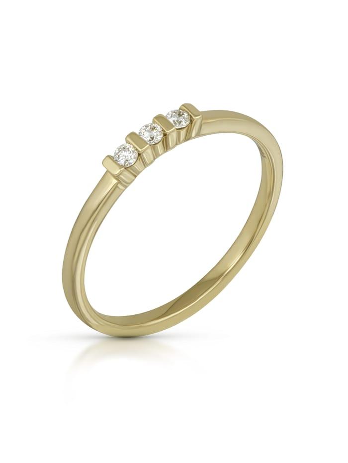 Orolino Ring 585/- Gold Brillant weiß Brillant Glänzend 0.09Karat 585/- Gold, gelb