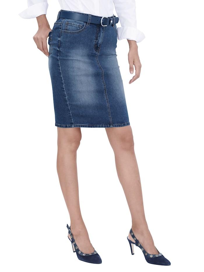 Džínsová sukňa v 5-vreckovom strihu