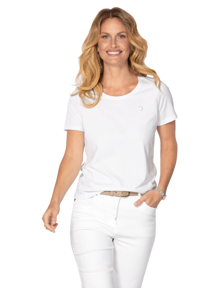 MONA Shirt van 'Cotton made in Africa', Wit