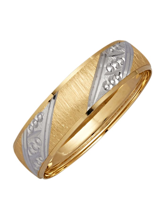 Partnerring in Gelbgold 585, Gelbgoldfarben
