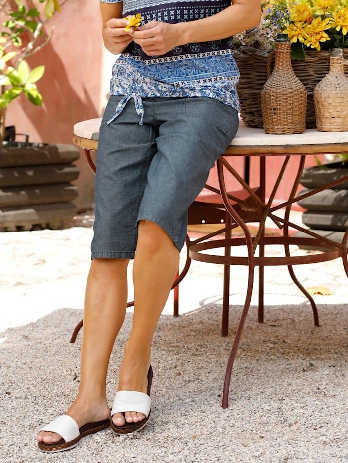 Paola Bermuda mit aufgesetzen Taschen, Blue stone