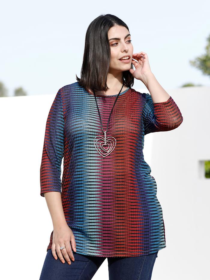 m. collection Longshirt van licht transparant materiaal, Multicolor
