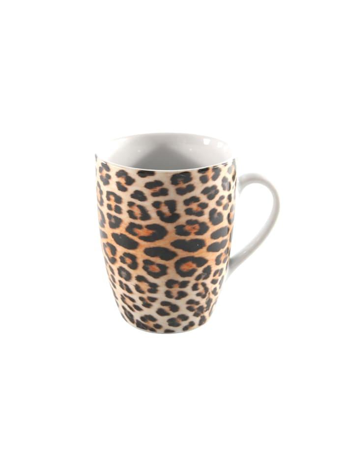Neuetischkultur Kaffeetasse Leopard, Bunt