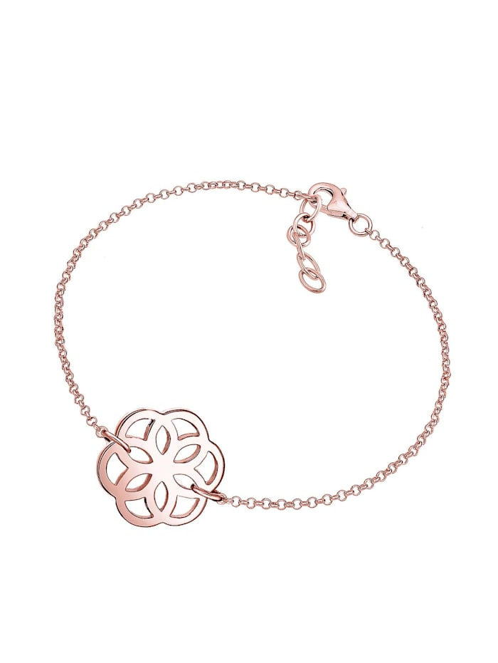 Armband Blume Ornament Flower Of Life 925 Sterling Silber