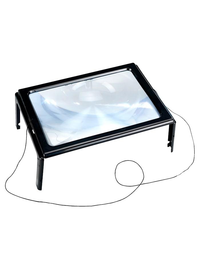 """Wenko Loupe de lecture à LED """"pour les petits caractères"""", Noir"""
