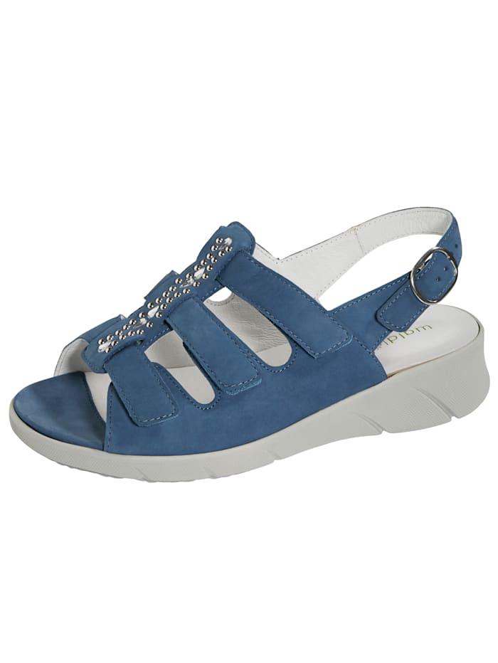 Waldläufer Sandale mit Steinchenverzierung, Blau