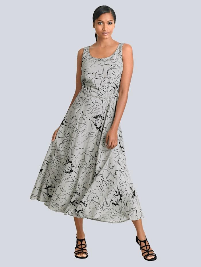 Kleid mit floralem Dessin allover