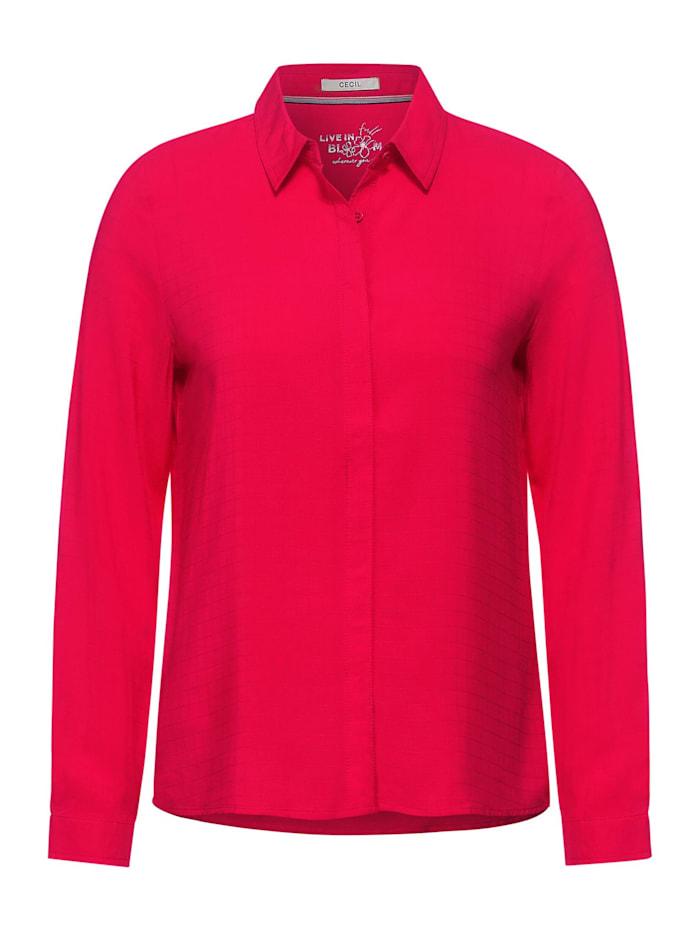 Cecil Bluse mit Hemdkragen, hibiscus red