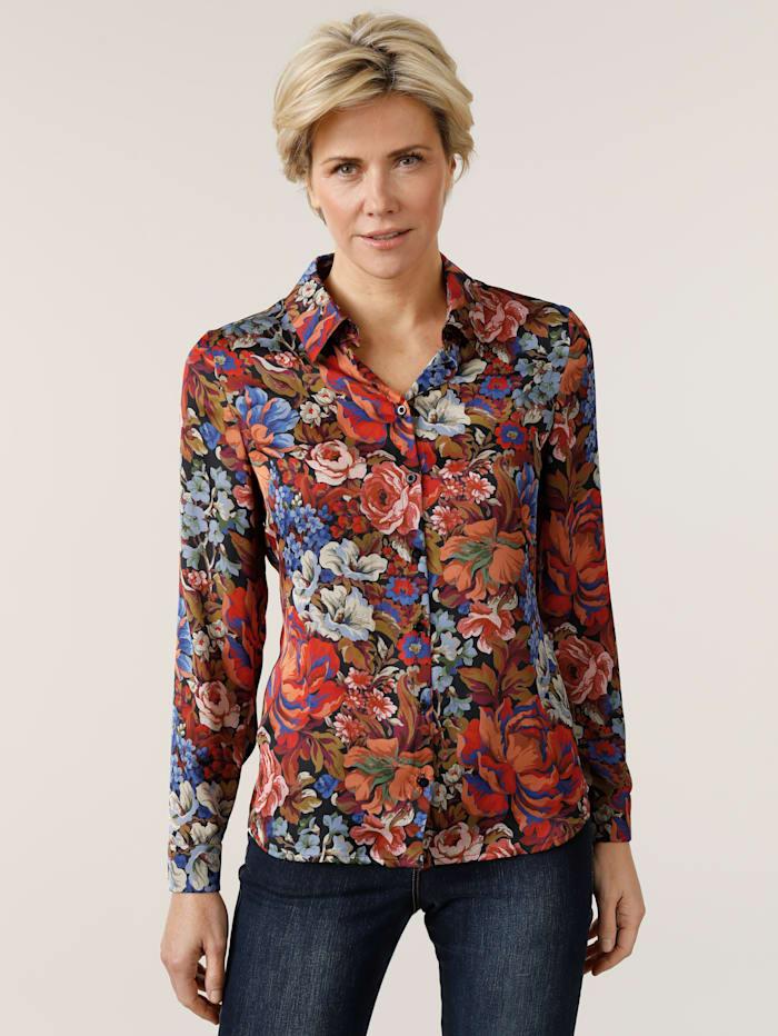 MONA Blouse with a unique floral print, Multi