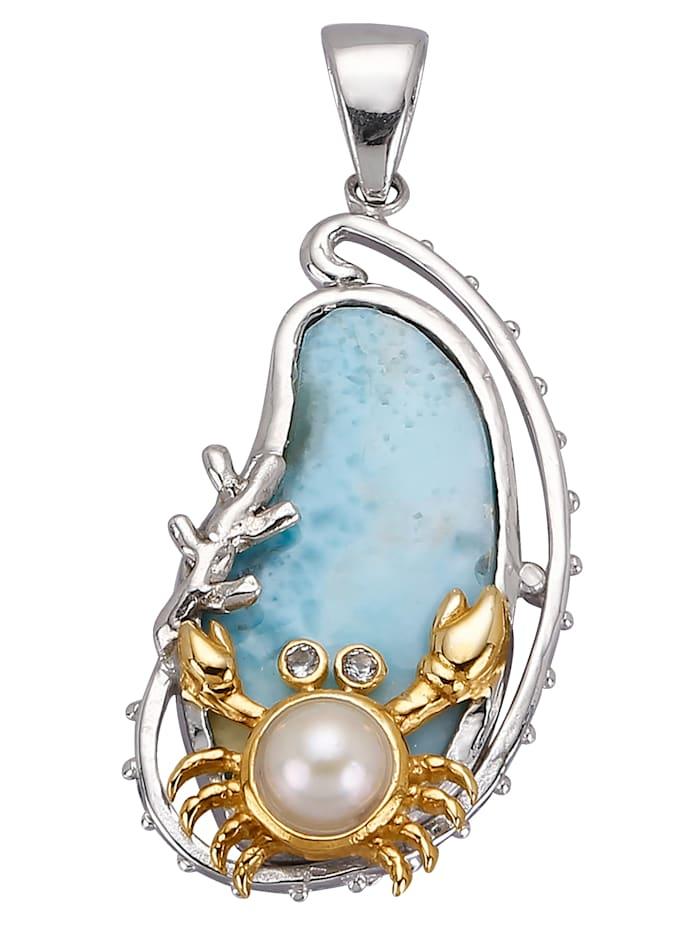 Pendentif à perle de culture d'eau douce, Coloris argent/Coloris or jaune