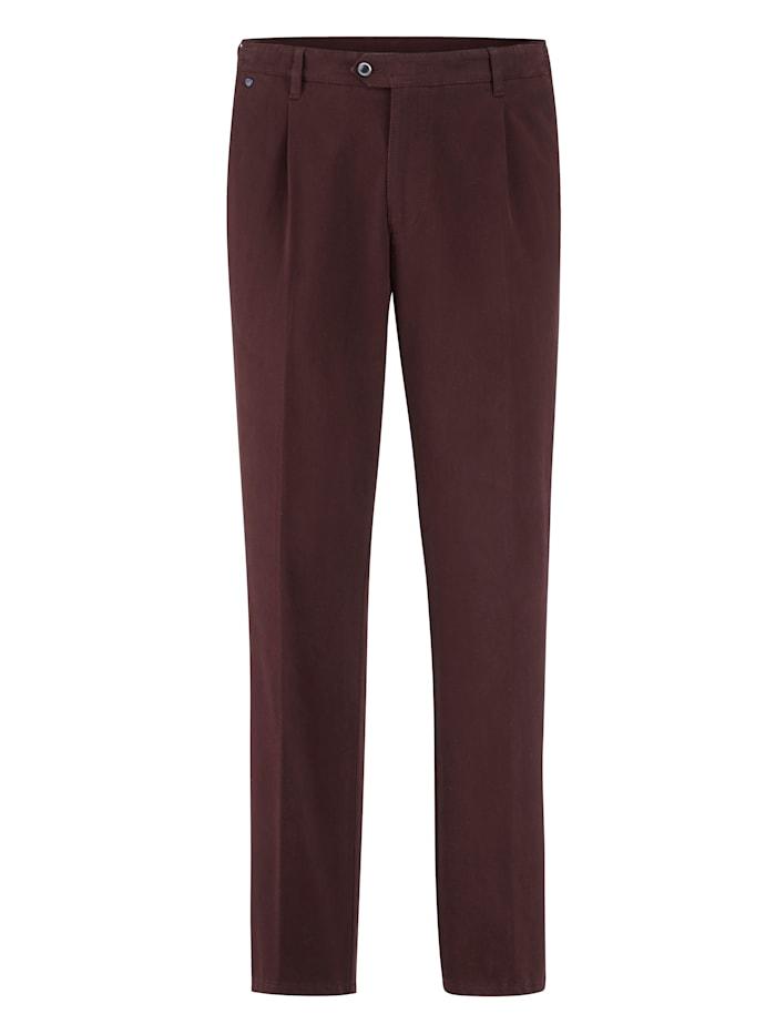 BABISTA Pantalon à pinces avec 7 cm d'ampleur supplémentaire à la ceinture, Bordeaux