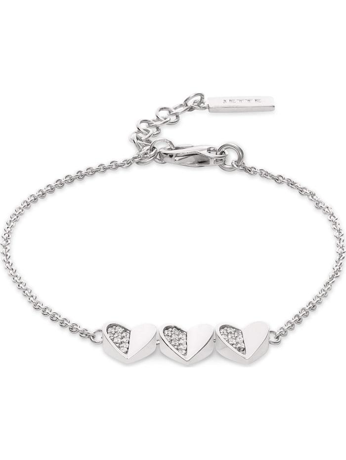 Jette JETTE Damen-Armband CANDY 925er Silber 27 Zirkonia, silber