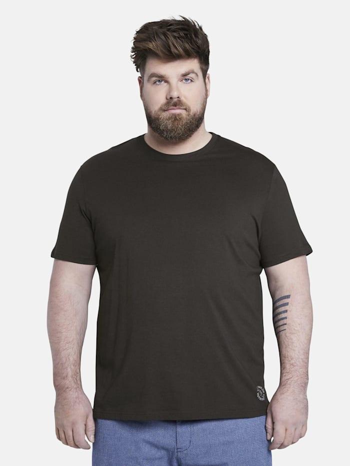 Tom Tailor Men Plus Doppelpack Basic T-Shirts, Black