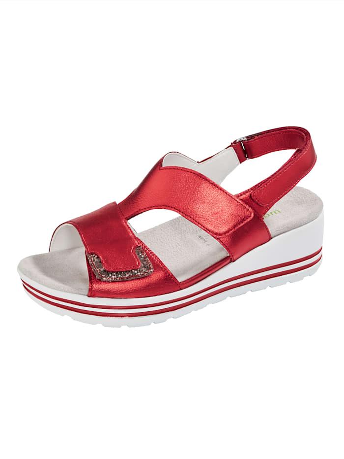 Sandaaltje met modieuze glitterapplicatie