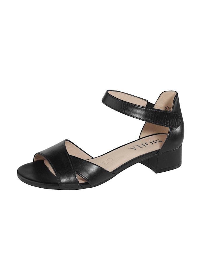 MONA Sandalette mit Klettverschluss, Schwarz