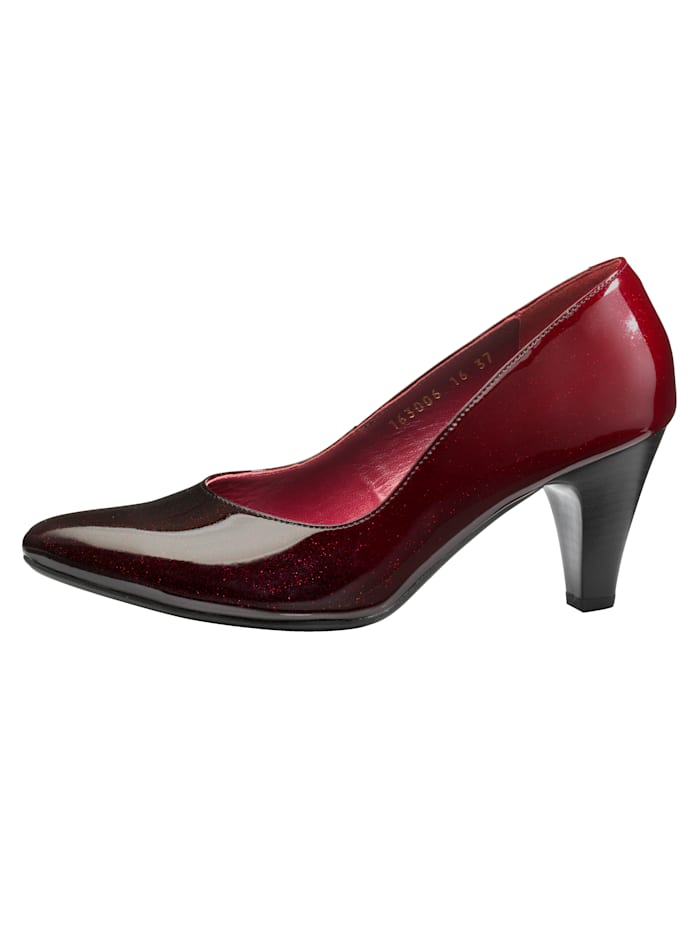 Court shoes in a gorgeous gradient design, Bordeaux
