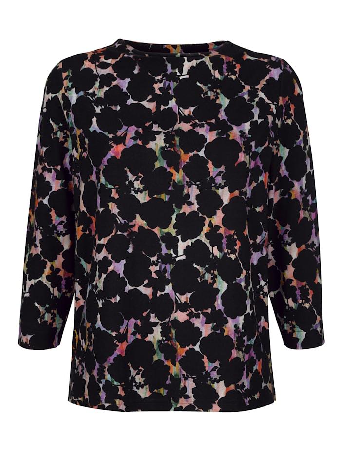 AMY VERMONT Shirt mit grafischem Druck, Schwarz/Multicolor