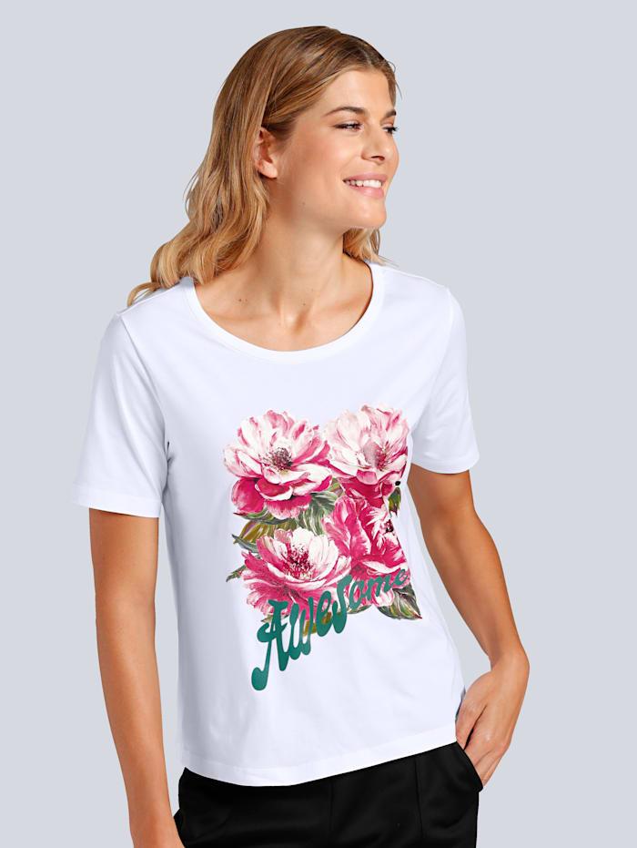 T-Shirt mit farbenfrohem Blumendruck