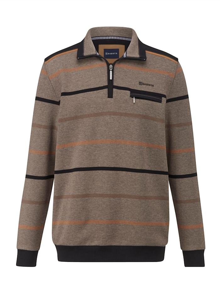 BABISTA Sweat-shirt d'aspect bicolore, Beige