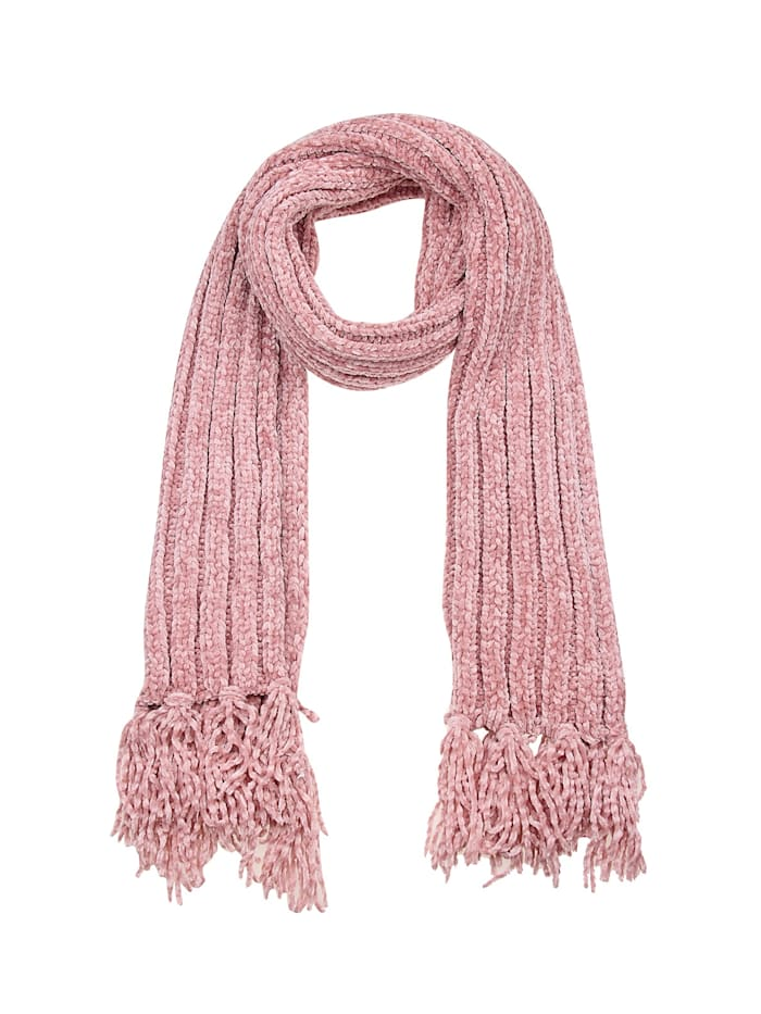 Leslii Schal mit schickem Strickmuster, rosa