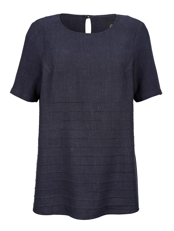 Shirtbluse aus hochwertiger Leinenmischung