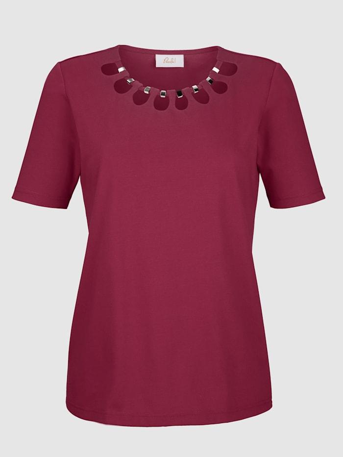 Shirt mit Aussparungen am Ausschnitt