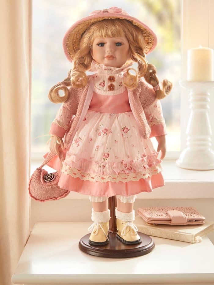 Deko Puppe, rosa