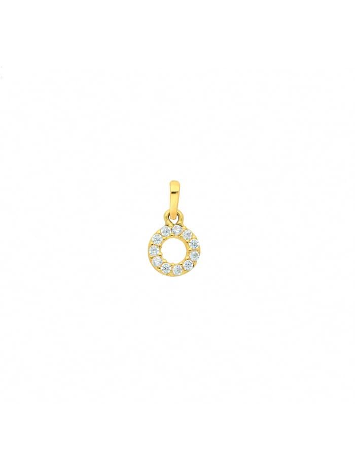 1001 Diamonds Damen Goldschmuck 333 Gold Anhänger mit Zirkonia Ø 6,3 mm, gold