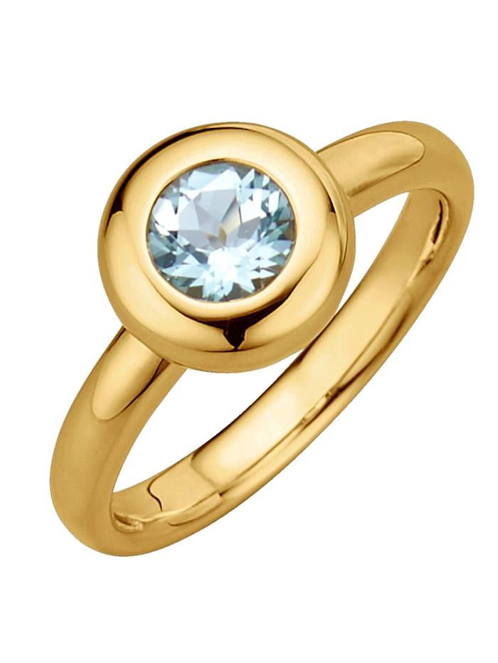Diemer Highlights Sternzeichen-Ring Wassermann, Blau