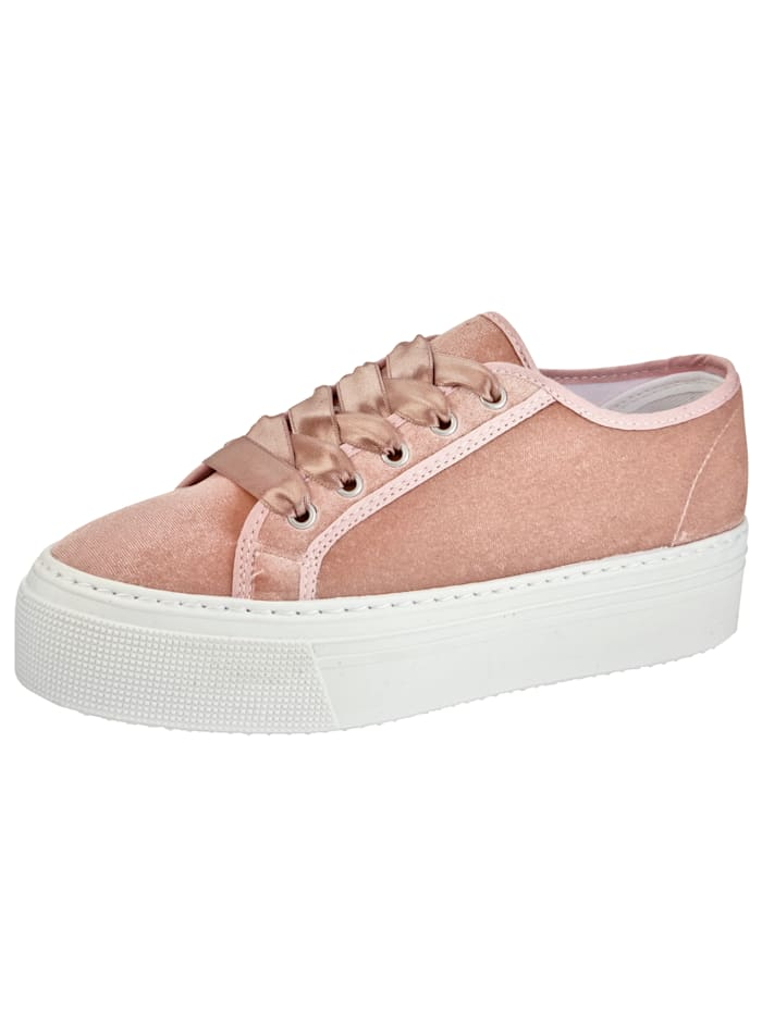 Trainers Made from soft velvet, Rosé
